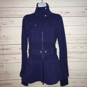 Lululemon Full Metal Cobalt Blue Belted Jacket Sz6